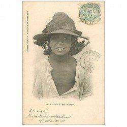 carte postale ancienne Algérie. BISKRA. Type de Nègre 1905. Ecrite de Castiglione