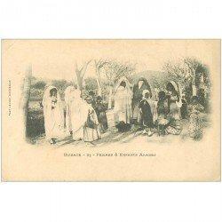carte postale ancienne Algérie. BIZERTE. Femmes et Enfants Arabes vers 1900