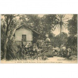 carte postale ancienne Algérie. COLEA. Jardin des Zouaves et Kiosque aux Pigeons 1913