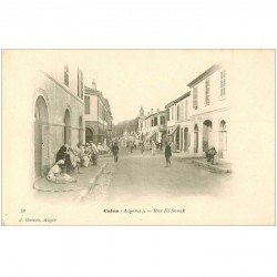 carte postale ancienne Algérie. COLEA. Rue El Souck vers 1900