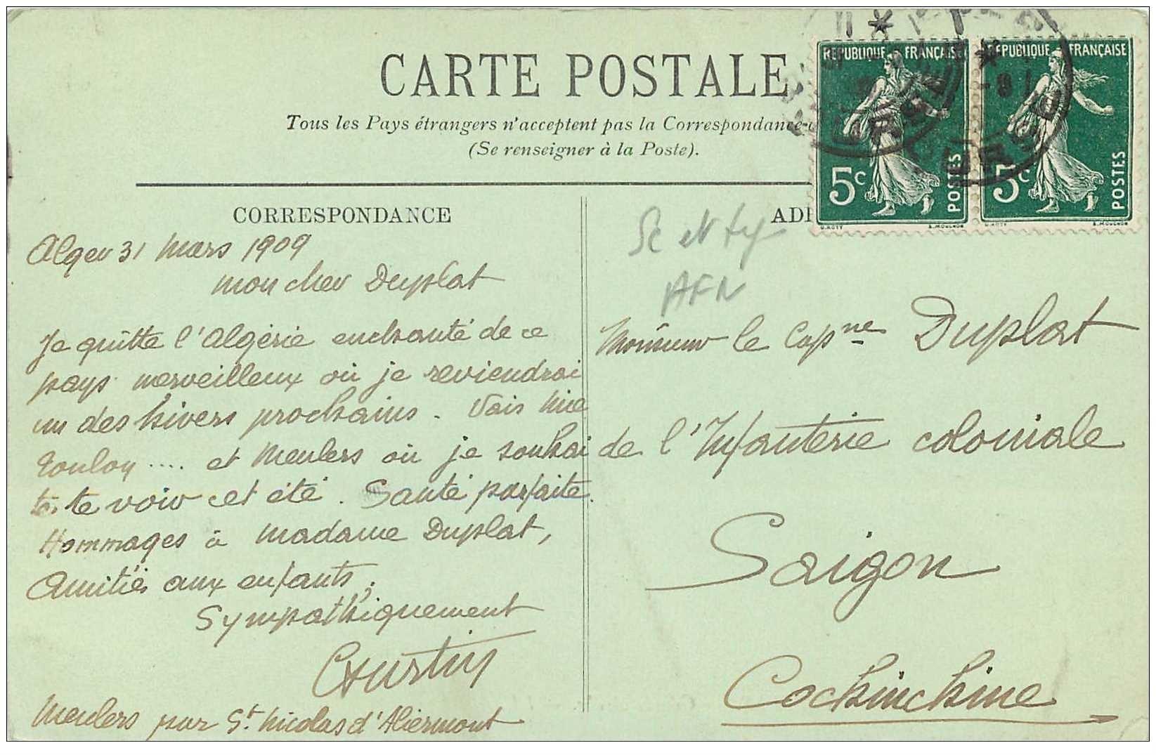 Carte Algerie En Arabe.Algerie Gourbi Arabe 1909