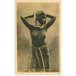 carte postale ancienne ALGERIE. Jeune Danseuse aux seins nus