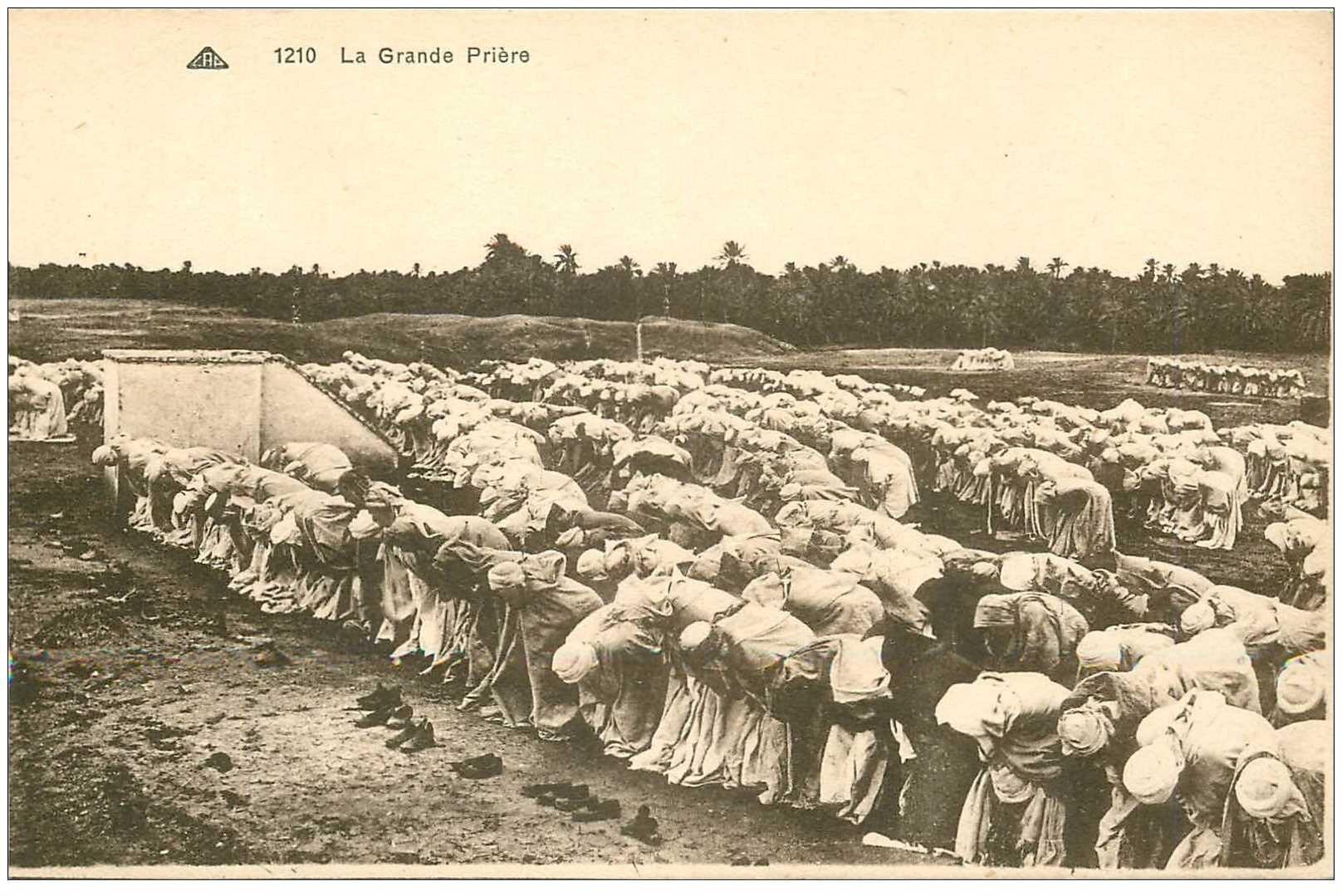 carte postale ancienne ALGERIE. La Grande Prière