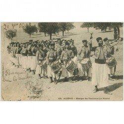 carte postale ancienne ALGERIE. Musique des Tirailleurs la Nouba vers 1906...