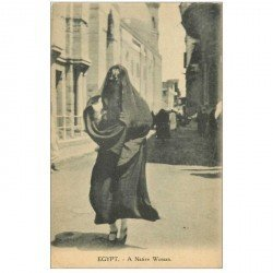 carte postale ancienne EGYPTE. Alexandrie. A Native Woman voilée