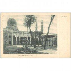 carte postale ancienne EGYPTE. Cairo Le Caire. Mosquée Elmouaiyad vers 1900