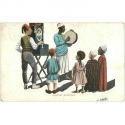 carte postale ancienne EGYPTE. Concert egyptien par Norton 1914