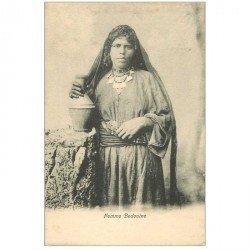 carte postale ancienne Egypte. Femme Bédouine porteuse d'eau vers 1900