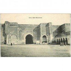 carte postale ancienne MAROC. Bab Mensour