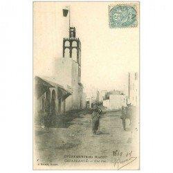 carte postale ancienne MAROC. Casablanca une Rue 1907