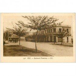 carte postale ancienne Maroc. FEZ. Boulevard Poemirau