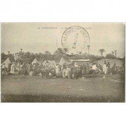 carte postale ancienne Maroc. MARRAKECH. Le Marché au Camp du Guellis 1914