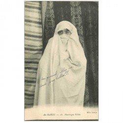 carte postale ancienne Maroc. Mauresque Voilée
