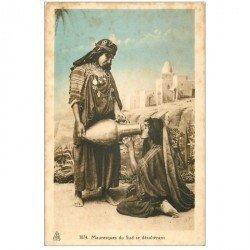 carte postale ancienne Maroc. Mauresques du Sud se désaltérant