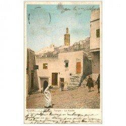 carte postale ancienne Maroc. TANGER. La Kasba 1910