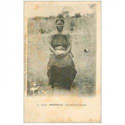 carte postale ancienne GABON. Brazzaville. Type de Femme Bangala
