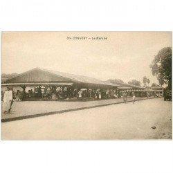 carte postale ancienne GUINEE. Conakry. Le Marché