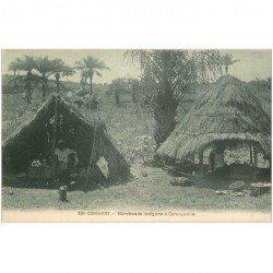 carte postale ancienne GUINEE. Conakry. Marchands indigènes à Camayenne (bleutée)