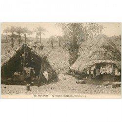 carte postale ancienne GUINEE. Conakry. Marchands indigènes à Camayenne (sépia)