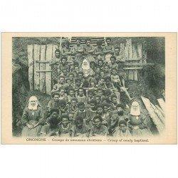 carte postale ancienne GUINEE. Ononche. Groupe de nouveaux chrétiens