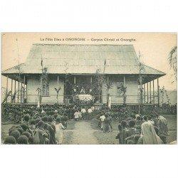 carte postale ancienne GUINEE. Ononche. La Fête Dieu Corpus Christi