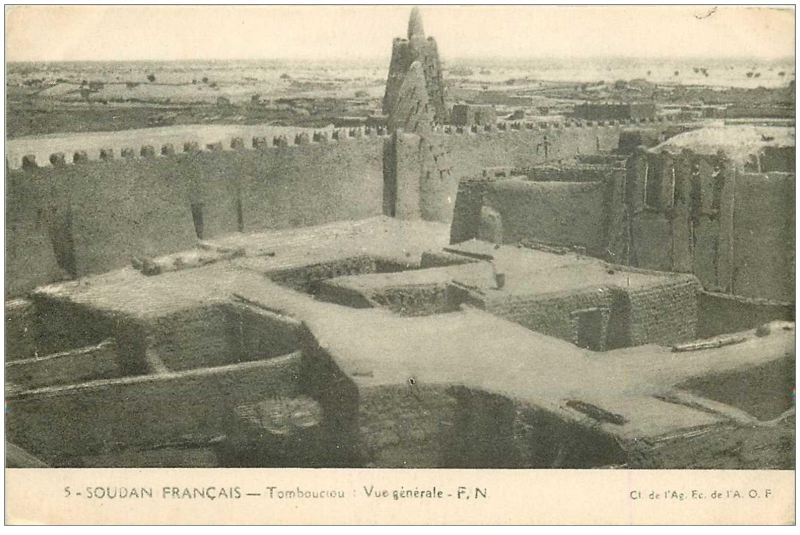 carte postale ancienne SOUDAN. Tombouctou