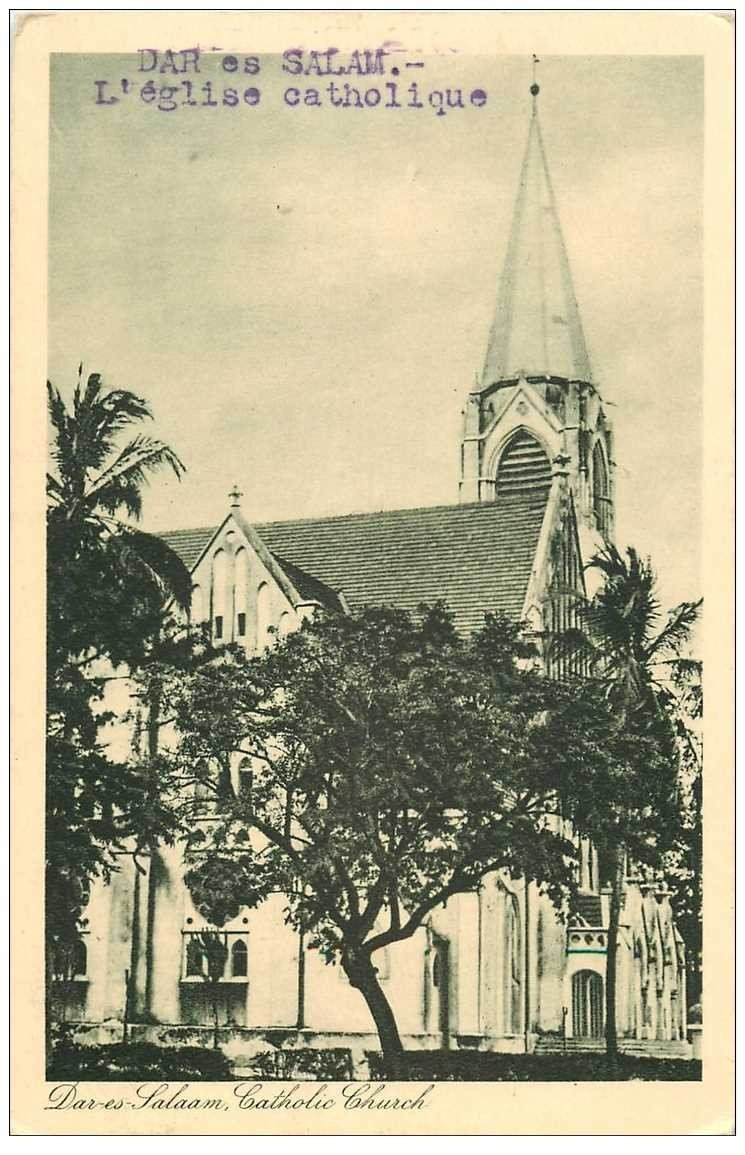 carte postale ancienne TANZANIE. Dar-es-Salaam Eglise Catholique
