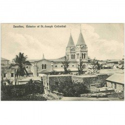 carte postale ancienne TANZANIE. Zanzibar Cathédrale Saint-Joseph