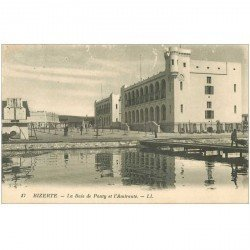carte postale ancienne Tunisie. BIZERTE. Baie de Ponty et l'Amirauté 1934