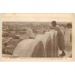 carte postale ancienne TUNISIE. Kairouan. La Ville Sainte vue de la Grande Mosquée