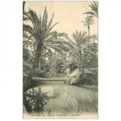carte postale ancienne TUNISIE. Pont sur l'Oued à Chenini 1912
