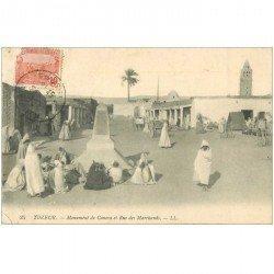 carte postale ancienne Tunisie. TOZEUR. Monument de Canova Rue des Marchands 1912