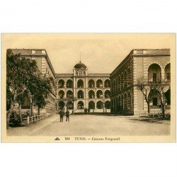 carte postale ancienne Tunisie. TUNIS. Caserne Forgemol