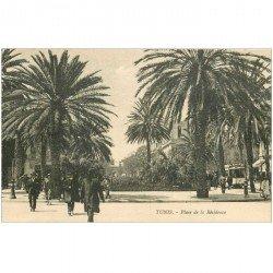 carte postale ancienne Tunisie. TUNIS. Place de la Résidence