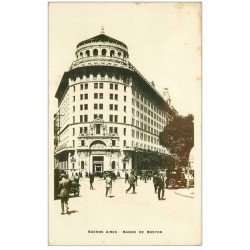 carte postale ancienne ARGENTINE. Buenos Aires. Banco de Boston. Photo carte postale émaillographie