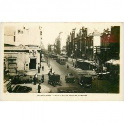 carte postale ancienne ARGENTINE. Buenos Aires. Calle Callao Esquina Cordoba. Photo carte postale émaillographie