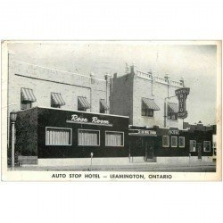 carte postale ancienne CANADA. Auto Stop Hotel Leamington Ontario 1960