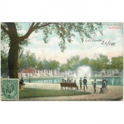 carte postale ancienne CANADA. Montreal. St Louis Square 1907