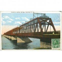 carte postale ancienne CANADA. Montreal. Victoria Jubilee Bridge 1922