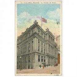 carte postale ancienne CANADA. Post Office Montréal. Le Bureau de Poste 1931