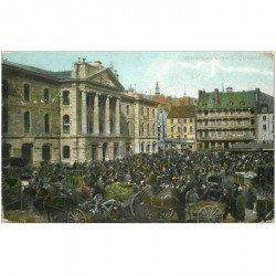 carte postale ancienne CANADA. Quebec. Champlain Market 1907