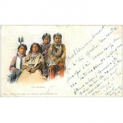 carte postale ancienne CANADA. Ute Children 1902 Enfants Indiens