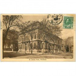carte postale ancienne MONTREAL. Saint James Club 1919