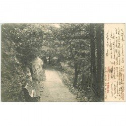 carte postale ancienne OTTAWA. Lovers Walk 1904