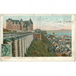 carte postale ancienne QUEBEC. Chateau Frontenac from Terrace 1907