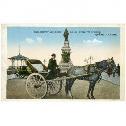 carte postale ancienne QUEBEC. La Calèche Calech