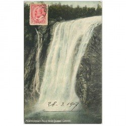 carte postale ancienne QUEBEC. Montmorency Falls 1907