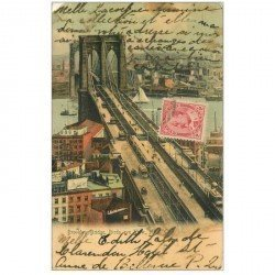carte postale ancienne ETATS UNIS. New York. Brooklyn Bridge 1905