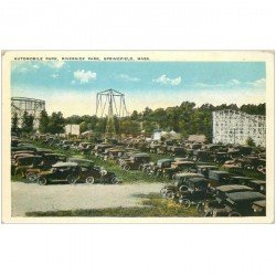 carte postale ancienne ETATS UNIS. Ohio. Automobile Park. Riverside Park Springfield Mass.