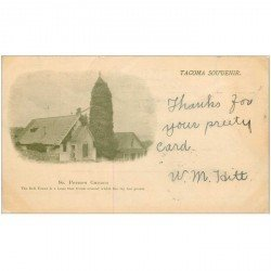 carte postale ancienne ETATS UNIS. Tacoma Souvenir. St Peters Church 1901